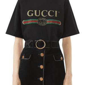 Gucci distressed logo tee
